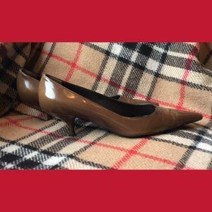 Prada Cocoa leather brown kitten heels